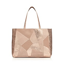Nine by Savannah Miller - Rose gold patchwork leather shopper bag