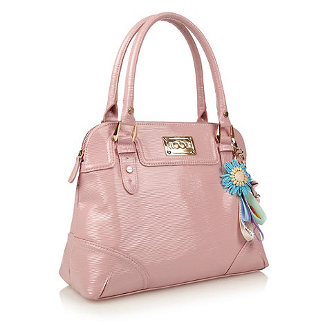 Floozie by Frost French - Designer pale pink textured patent kettle bag