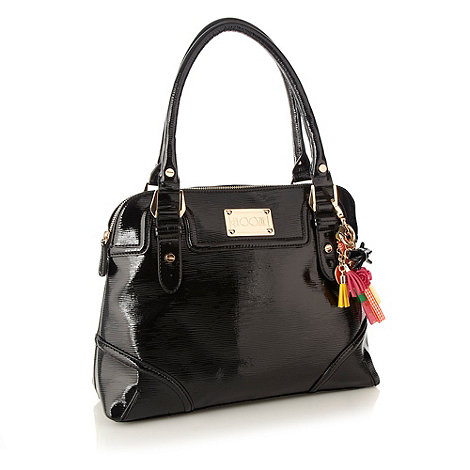 Floozie by Frost French - Designer black textured patent toaster bag