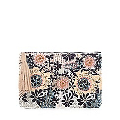 Nine by Savannah Miller - Multi-coloured beaded clutch bag