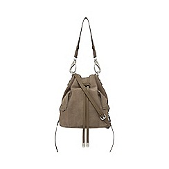 Nine by Savannah Miller - Grey suede duffle bag