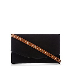 Nine by Savannah Miller - Black suede cross body bag