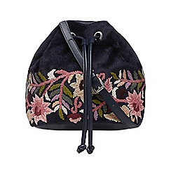 Nine by Savannah Miller - Navy floral embroidered duffle bag