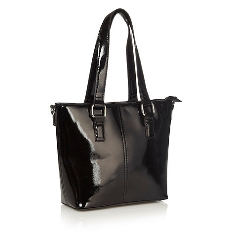 The Collection - Black crosshatch patent grab bag