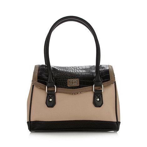 The Collection - Natural mock croc shoulder bag
