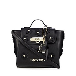Floozie by Frost French - Black flower applique mini cross body bag