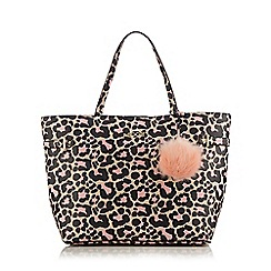 Floozie by Frost French - Light pink leopard print shopper bag