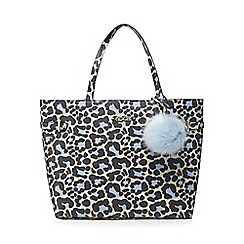 Floozie by Frost French - Light blue leopard print shopper bag