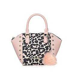 Floozie by Frost French - Light pink leopard print mini grab bag