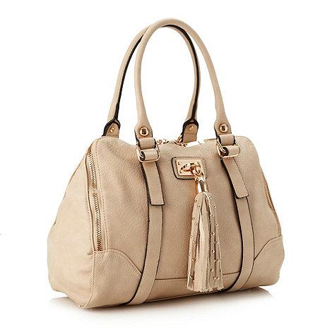 Faith - Natural studded tassel kettle bag