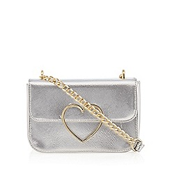 Floozie by Frost French - Silver heart cross body bag