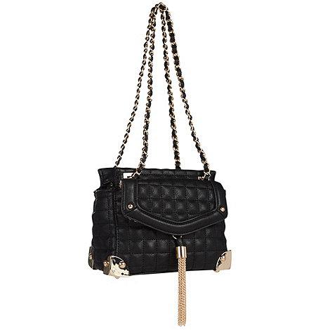 Faith - Black quilted shoulder bag