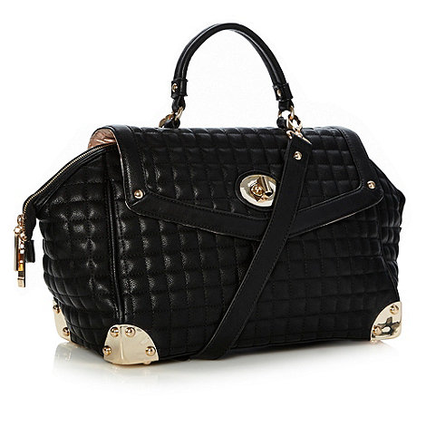 Faith - Black large quilted grab bag