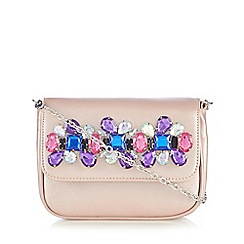Floozie by Frost French - Light pink jewel embellished cross body bag