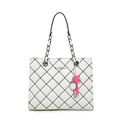 Floozie by Frost French - White quilted chain handle tote bag