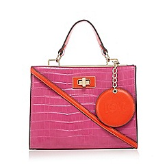 Floozie by Frost French - Pink croc effect grab bag