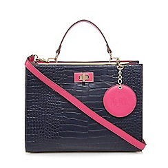 Floozie by Frost French - Navy croc effect large grab bag