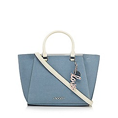 Floozie by Frost French - Blue and yellow colour block shoulder bag