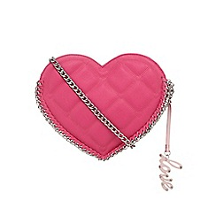 Floozie by Frost French - Pink quilted heart cross body bag