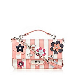 Floozie by Frost French - Coral floral applique cross body bag