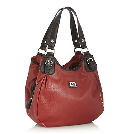 The Collection - Red three section shoulder bag