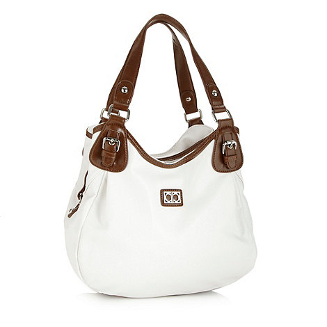 The Collection - White three section shoulder bag