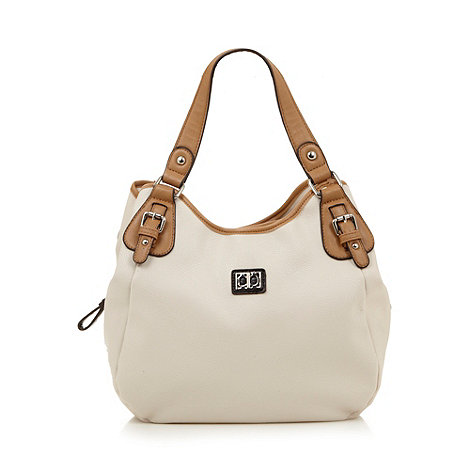 The Collection - Cream colour block scoop shoulder bag