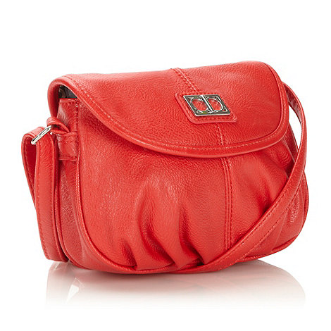 The Collection - Designer red pouch cross body bag