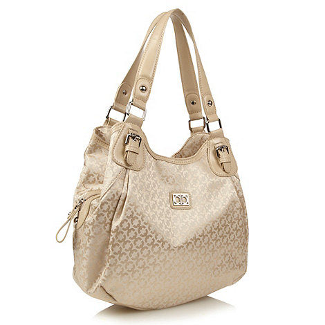 The Collection - Cream jacquard scoop bag