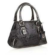 Black jacquard mini grab bag