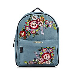 Floozie by Frost French - Blue floral embroidered backpack