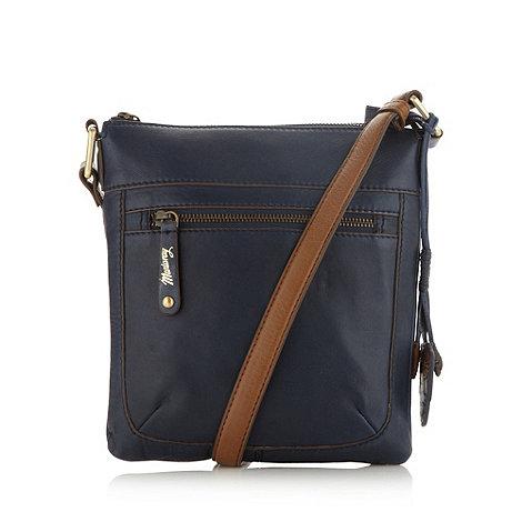 Mantaray - Navy leather cross body bag