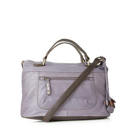 Mantaray - Lilac stab stitched leather grab bag