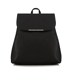 Red Herring - Black textured backpack