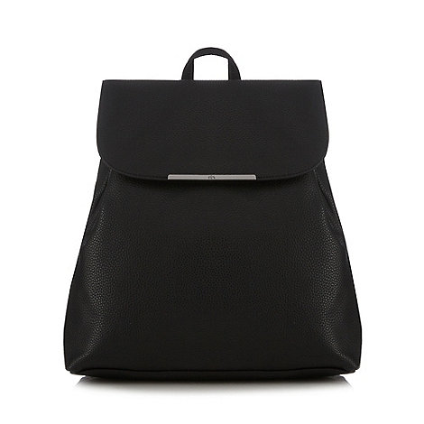 Red Herring - Black textured backpack