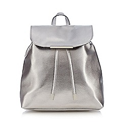 Red Herring - Silver metallic textured backpack