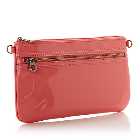 Red Herring - Pink patent clutch bag