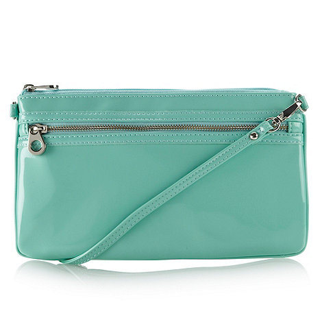 Red Herring - Light green patent clutch bag