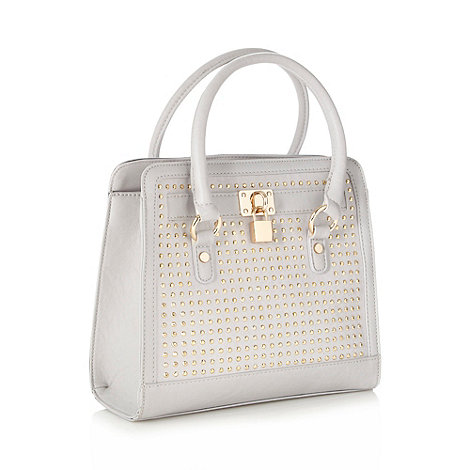 Red Herring - Light grey studded tote bag