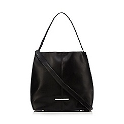 Red Herring - Black chain zip shoulder bag