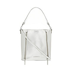 Red Herring - Silver textured zip detail shoulder bag