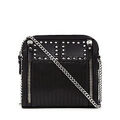 Red Herring - Black studded quilted crossbody bag