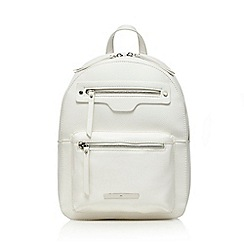 Red Herring - White structured backpack
