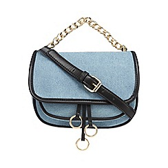Red Herring - Light blue denim cross body bag