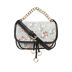 Red Herring - Grey floral print cross body bag