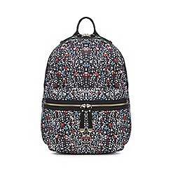 Red Herring - Navy floral print backpack