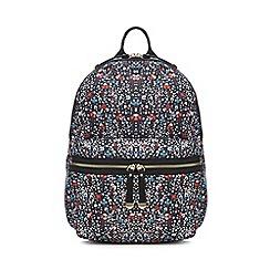 Red Herring - Navy floral print backpack
