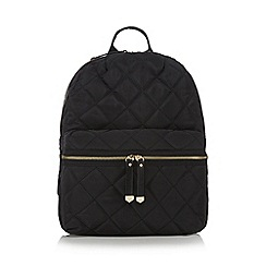 Red Herring - Black quilted backpack