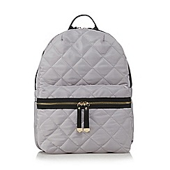 Red Herring - Grey quilted backpack