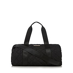 Red Herring - Black quilted weekender bag